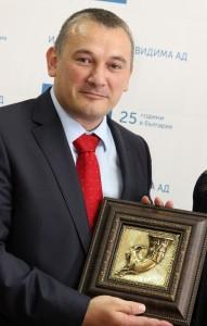 Ярослав Дончев с Ритона - подарък от Област Габрово